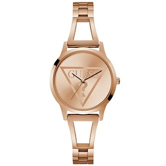 Guess Ladies' Rose Gold Logo Dial Watch - Product number 9654259