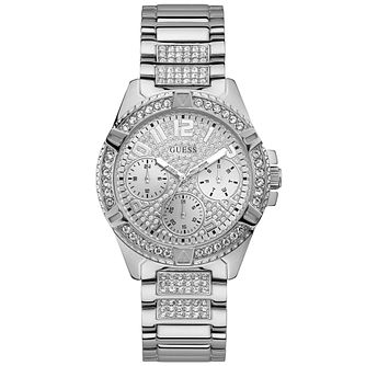 Guess Ladies' Crystal with Glitz Dial Silver Watch - Product number 9654968