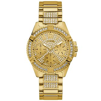 Guess Ladies' Crystals and Glitz Dial Gold Watch - Product number 9654976
