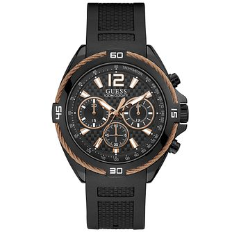 Guess Men's Copper Wire Detail Black Watch - Product number 9656642