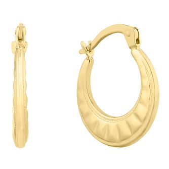 Silver and 9ct Bonded Gold Creole Earrings - Product number 9660143
