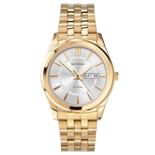 Sekonda Gent's Gold Plated Bracelet Watch - Product number 9660305