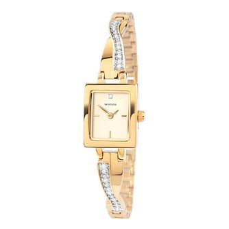 Sekonda Ladies' Stone Set Gold Plated Twist Bracelet Watch - Product number 9660569