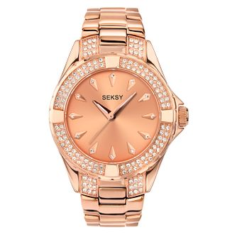 Seksy Ladies' Intense Rose Stone Set Bracelet Watch - Product number 9660704