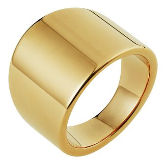 Inara Ceramic Yellow Gold Plated Ring - Product number 9661301