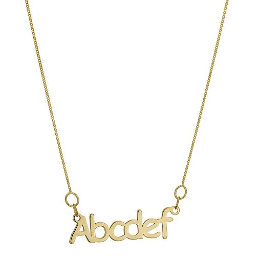 Kids' 9ct Gold Nameplate Pendant - Product number 9661379