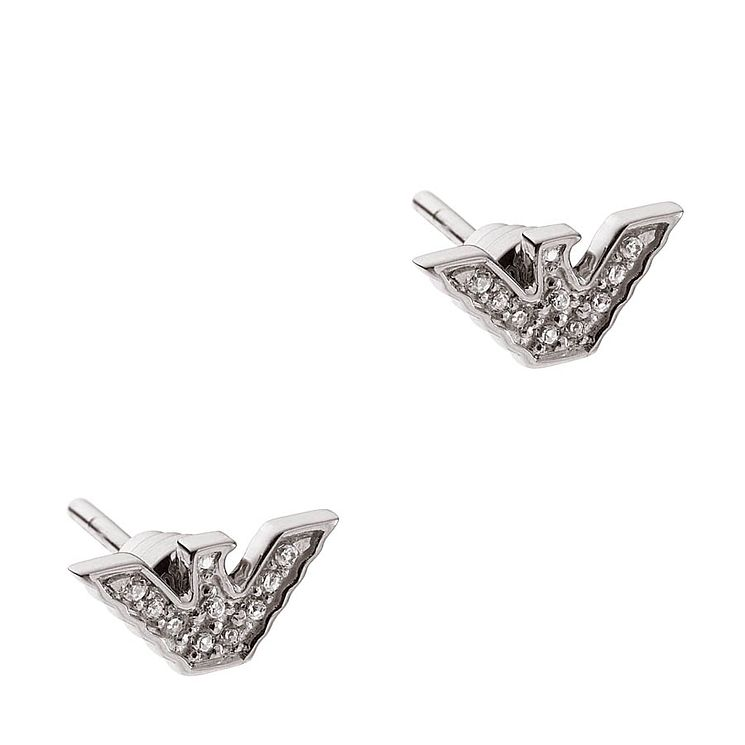 Emporio Armani Ladies' Sterling Silver Stone Set Earrings - Product number 9662014