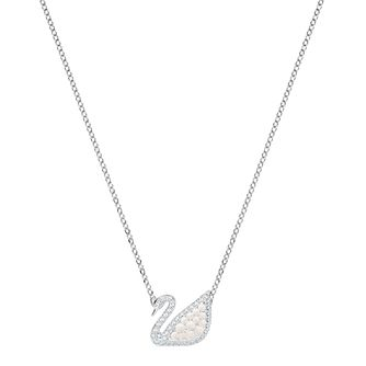 Swarvoski Ladies' Rhodium Icon Swan Pendant - Product number 9662197