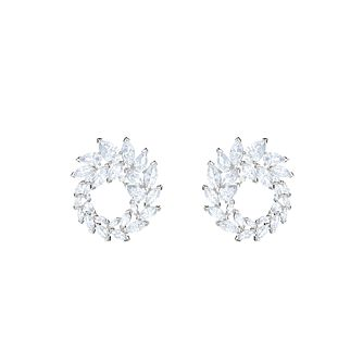 Swarovski Ladies' Rhodium Plated Louison Circle Earrings - Product number 9662324