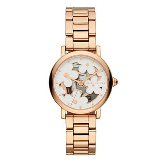 Marc Jacobs Rose Gold Plated Floral Watch - Product number 9662979