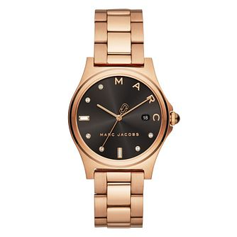Marc Jacobs Henry Ladies' Rose Gold Plated Bracelet Watch - Product number 9662995