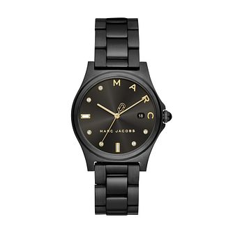 Marc Jacobs Ladies' Black IP Henry Black Bracelet Watch - Product number 9663002
