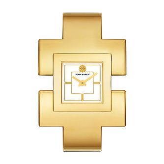 Tory Burch Ladies' The T Yellow Gold Plated Bangle Watch - Product number 9663088