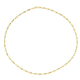 9ct Yellow Gold Twist Necklace - Product number 9663142