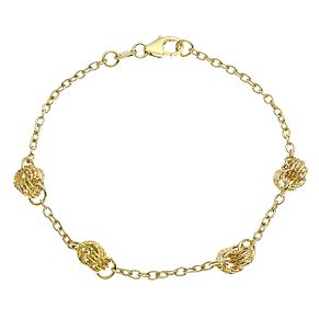 9ct Yellow Gold Knot Bracelet - Product number 9663177