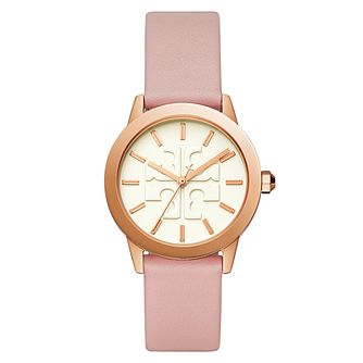 Tory Burch Ladies' Rose Gold Tone Gigi Strap Watch - Product number 9663614
