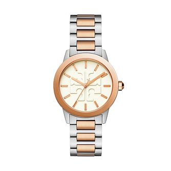 Tory Burch The Gigi Ladies' Two Tone Bracelet Watch - Product number 9663630