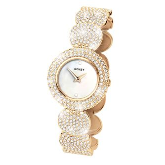 Seksy Ladies' Gold Plated Stone Set Bracelet Watch - Product number 9664408