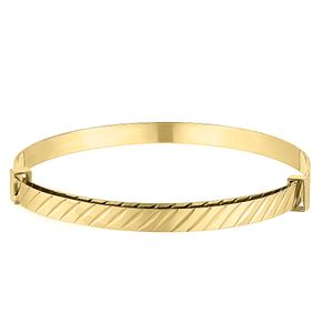 Children's 9ct Yellow Gold Striped Expandable Bangle - Product number 9664580