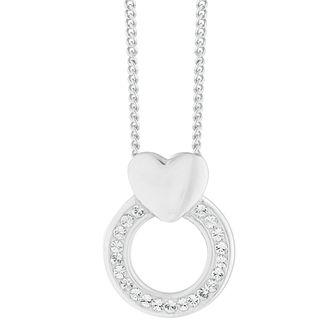 Evoke Silver Crystal Heart Pendant - Product number 9666079