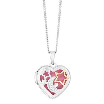 Silver Moon Star Locket - Product number 9666362