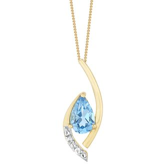 9ct Yellow Gold Cubic Zirconia Teardrop Pendant - Product number 9666443