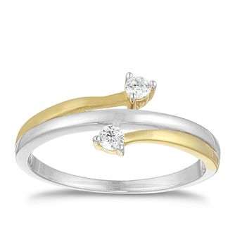 Silver Yellow Gold Plated Cubic Zirconia Ring - Product number 9668632