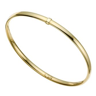 Together Silver & 9ct Bonded Gold Bangle - Product number 9684174