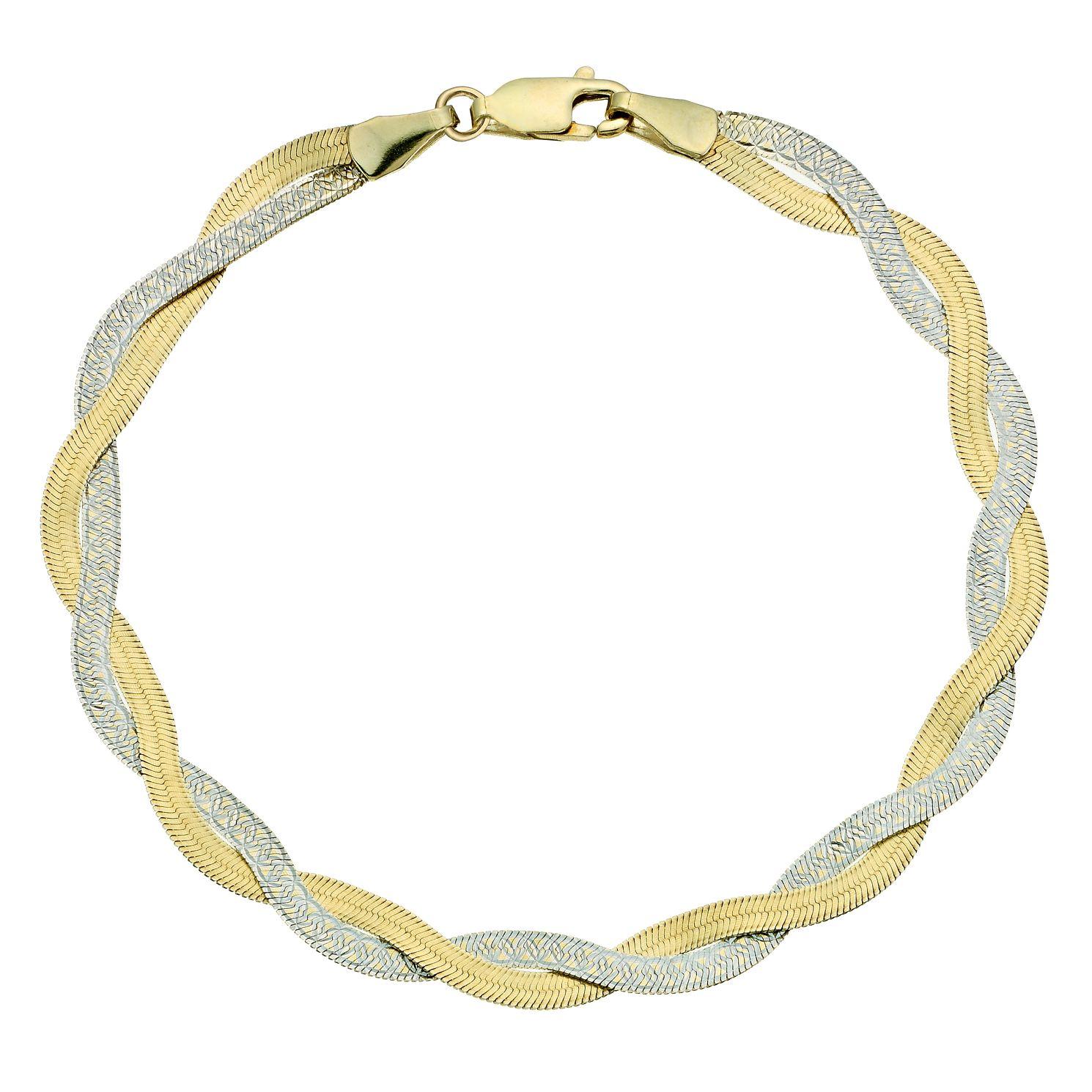 Two colour Gold Bracelets | H.Samuel
