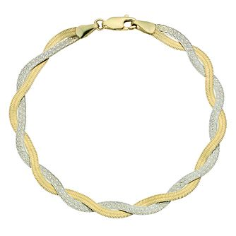 Together Silver & 9ct Bonded Yellow Gold Bracelet - Product number 9687262