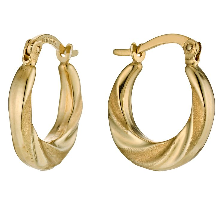 Together Silver & 9ct Bonded Gold Swirl Creole Earrings - Product number 9688889