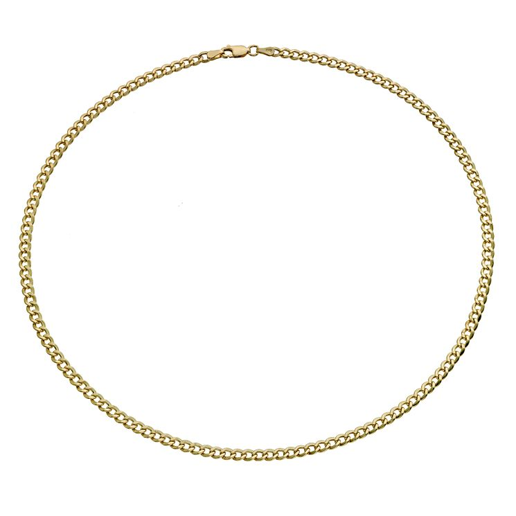 "Together Silver & 9ct Bonded Gold 18"" Curb Chain - Product number 9690131"