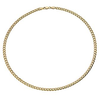 "Together Silver & 9ct Bonded Gold 18"" Curb Chain - Product number 9690158"