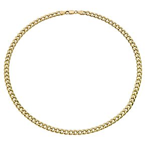 "Together Silver & 9ct Bonded Gold 20"" Curb Chain - Product number 9690174"