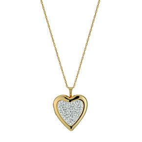 Together Silver & 9ct Bonded Yellow Gold Crystal Locket - Product number 9691006