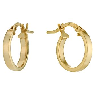 Together Silver & 9ct Bonded Gold 10mm Creole Hoop Earrings - Product number 9691081