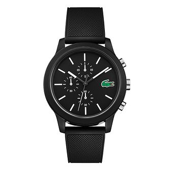 Lacoste 12.12 Gents Black Silicone Strap Watch - Product number 9691383