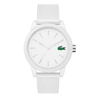 Lacoste Men's White Dial White Silicone Strap Watch - Product number 9691499