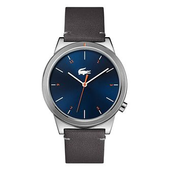 Lacoste Motion Men's Black Leather Strap Watch - Product number 9691596
