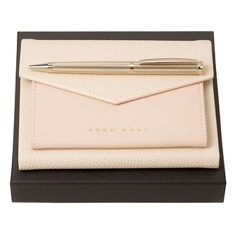 Hugo Boss Gold BallPoint and A6 Notebook Set - Product number 9693254