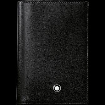 Mont Blanc Meisterstück Black Leather Business Card Holder - Product number 9693300