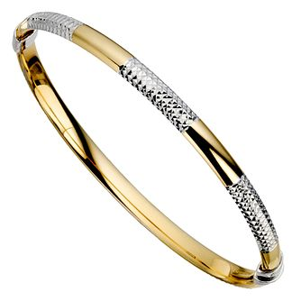 Together Silver & Bonded Gold Bangle - Product number 9694005