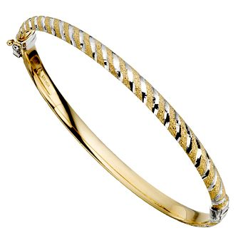Together Silver & Bonded Gold Striped Bangle - Product number 9694013