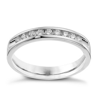 9ct white gold 0.25ct diamond channel set ring. - Product number 9700609