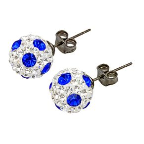Tresor Paris Fampux 8mm blue & white crystal stud earrings - Product number 9704019