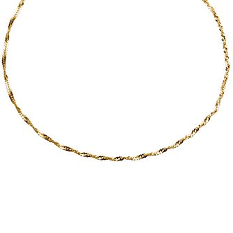 "9ct Yellow Gold Twist Curb Chain Necklace 18"" - Product number 9708944"