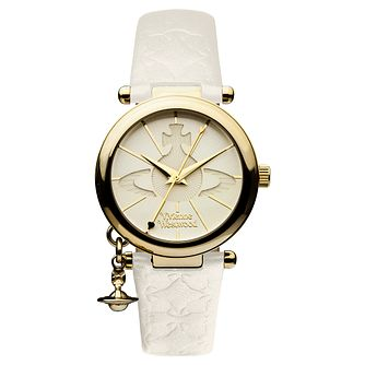 Vivienne Westwood ladies' gold plated orb strap watch - Product number 9732802