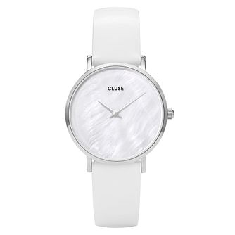 Cluse Ladies' Minuit La Perle Silver Case White Dial Watch - Product number 9733922