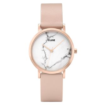 Cluse Ladies' La Roche Rose Gold Case Marble Dial Watch - Product number 9733949