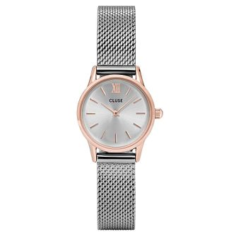 Cluse Ladies' La Vedette Silver Mesh Rose Gold Case Watch - Product number 9733965
